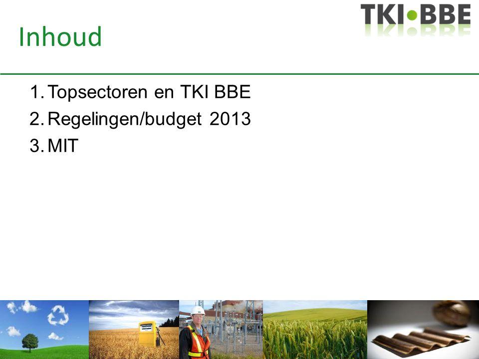 Voorstel TKI BBE aan Topteam (najaarsrapportage) – Besteding over alle 6 programmalijnen – Meer (industriële) marktpartijen betrekken – Meer transparantie – Grotendeels verdelen via tenders – Uitvoering via Agentschap NL – Programmacommissie TKI rangschikt