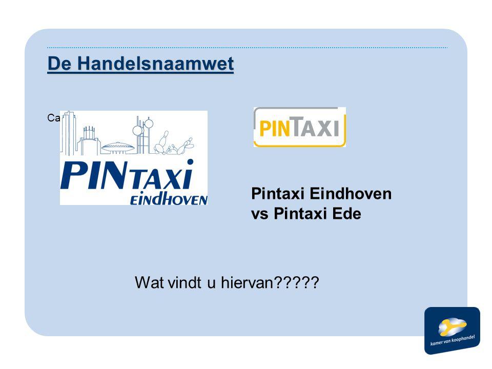 De Handelsnaamwet Casus: Pintaxi Eindhoven vs Pintaxi Ede Wat vindt u hiervan?????