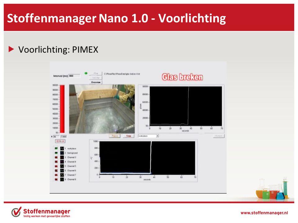 Stoffenmanager Nano 1.0 - Voorlichting  Voorlichting: PIMEX