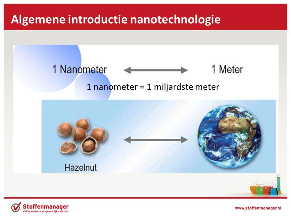 1 nanometer = 1 miljardste meter