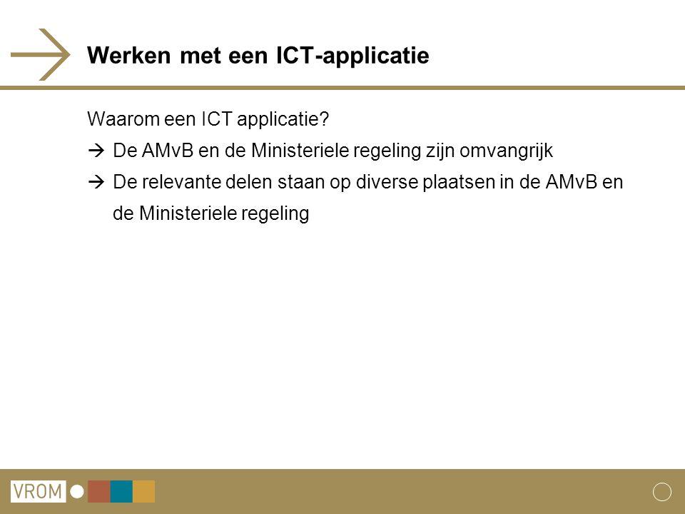 Werken met een ICT-applicatie Waarom een ICT applicatie.