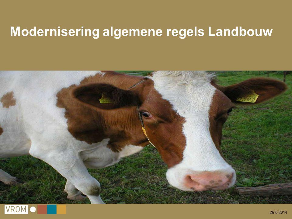 26-6-2014 Modernisering algemene regels Landbouw