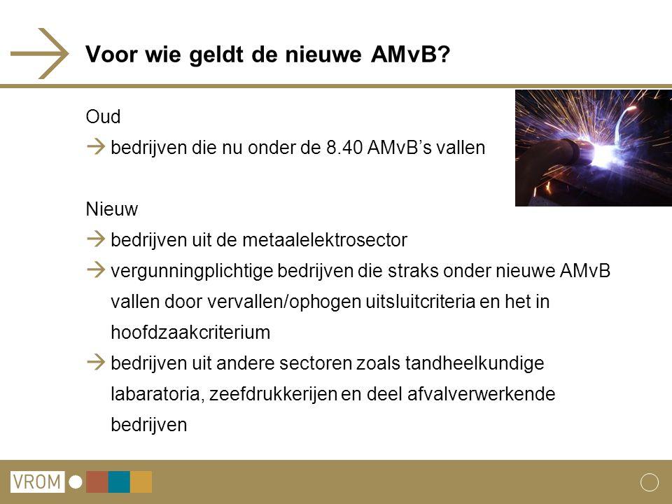 Voor wie geldt de nieuwe AMvB.