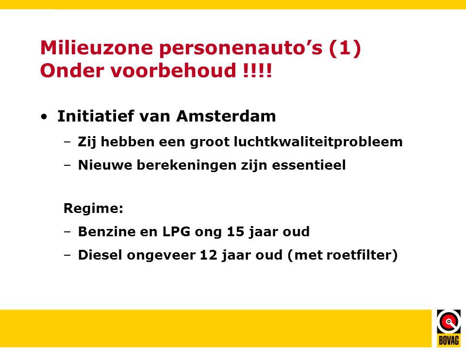 Milieuzone personenauto's (1) Onder voorbehoud !!!.