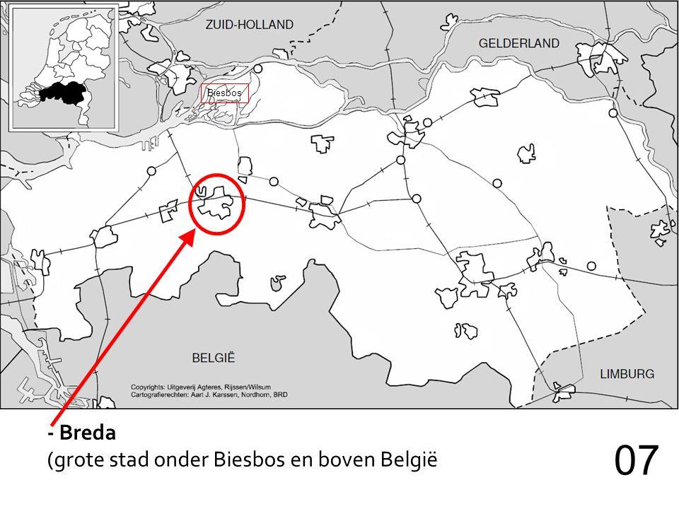 - Breda (grote stad onder Biesbos en boven België 07 Biesbos