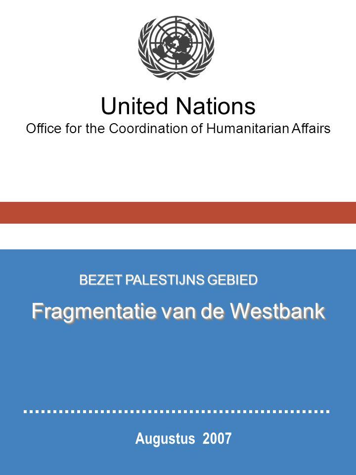 De Westbank wordt alsmaar meer gefragmenteerd: Israëlische nederzettingen zijn verspreid over de hele Westbank; ze zijn in strijd met het internationaal recht.