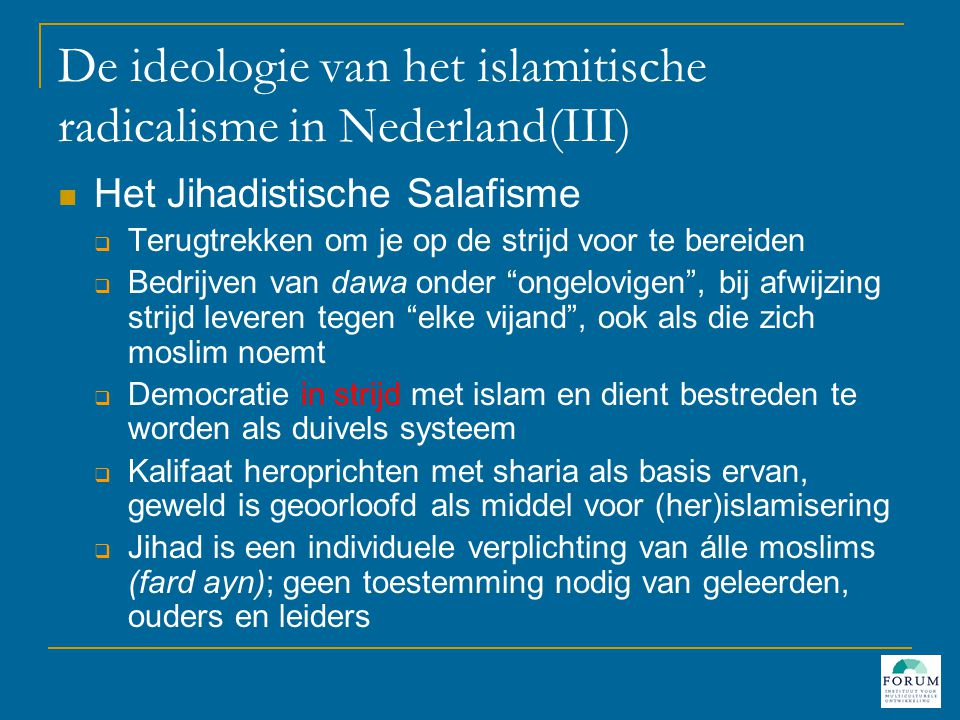 Omgaan met radicalisering  Weet met welk fenomeen je te maken hebt!.