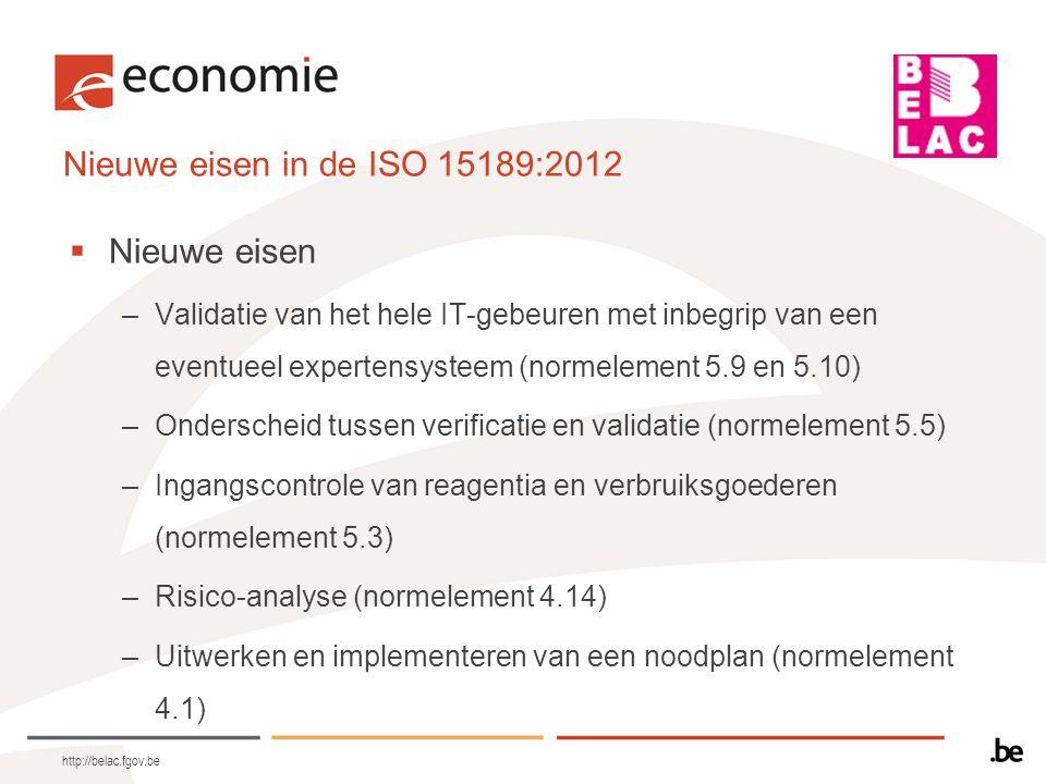 Laboratoriuminformatiemanagement (normelement 5.10) 5.10.1: algemeen 5.10.2: bevoegdheden en verantwoordelijkheden 5.10.3: Informatiemanagementsysteem http://belac.fgov.be