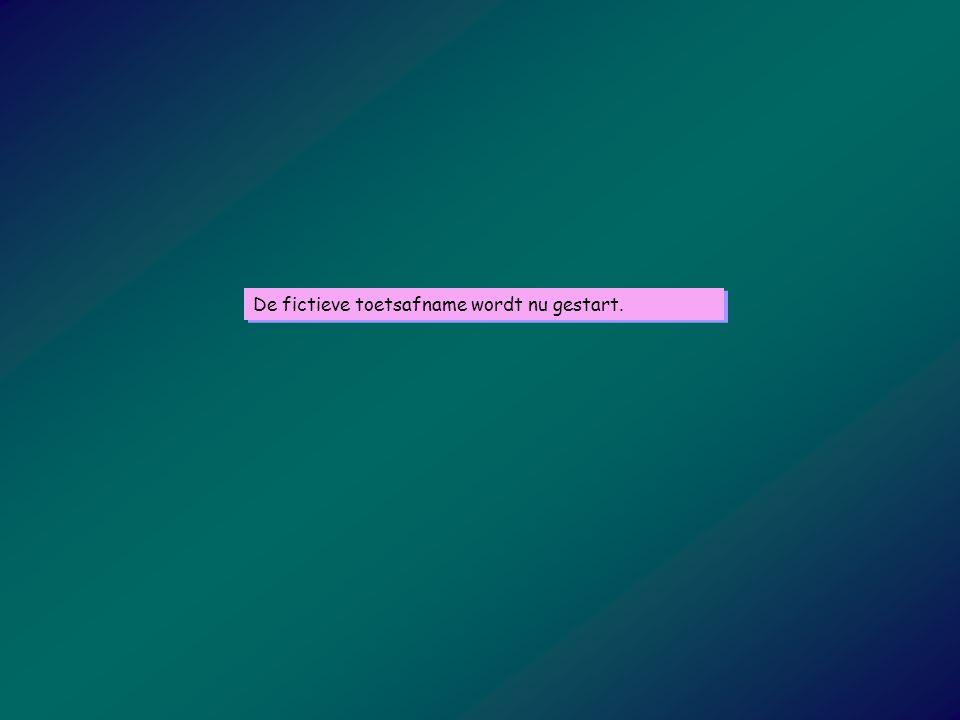 De computer presenteert een opgave van gemiddelde moeilijkheidsgraad.