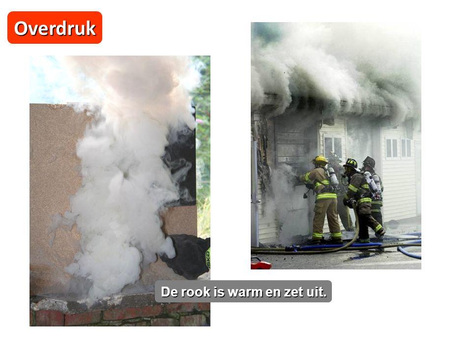 Overdruk De rook is warm en zet uit.