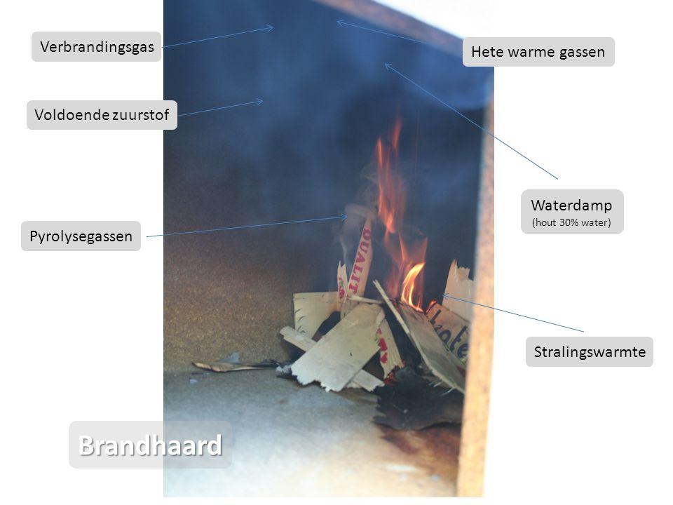 Le feu démarre très lentement et produit une grande quantité de fumées (vapeur d eau et gaz de pyrolyse) parfaitement visibles.