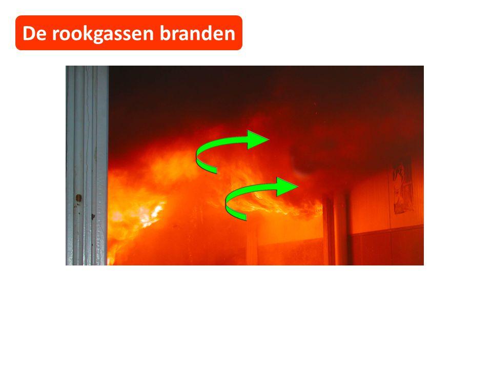 De rookgassen branden