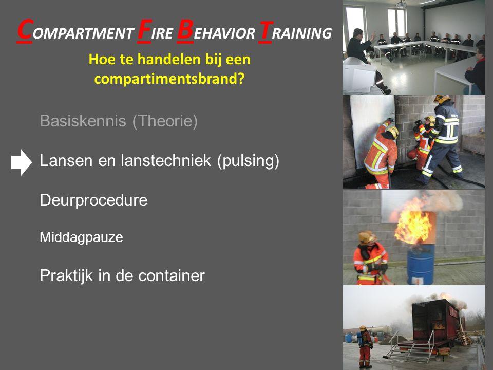 C OMPARTMENT F IRE B EHAVIOR T RAINING Hoe te handelen bij een compartimentsbrand.