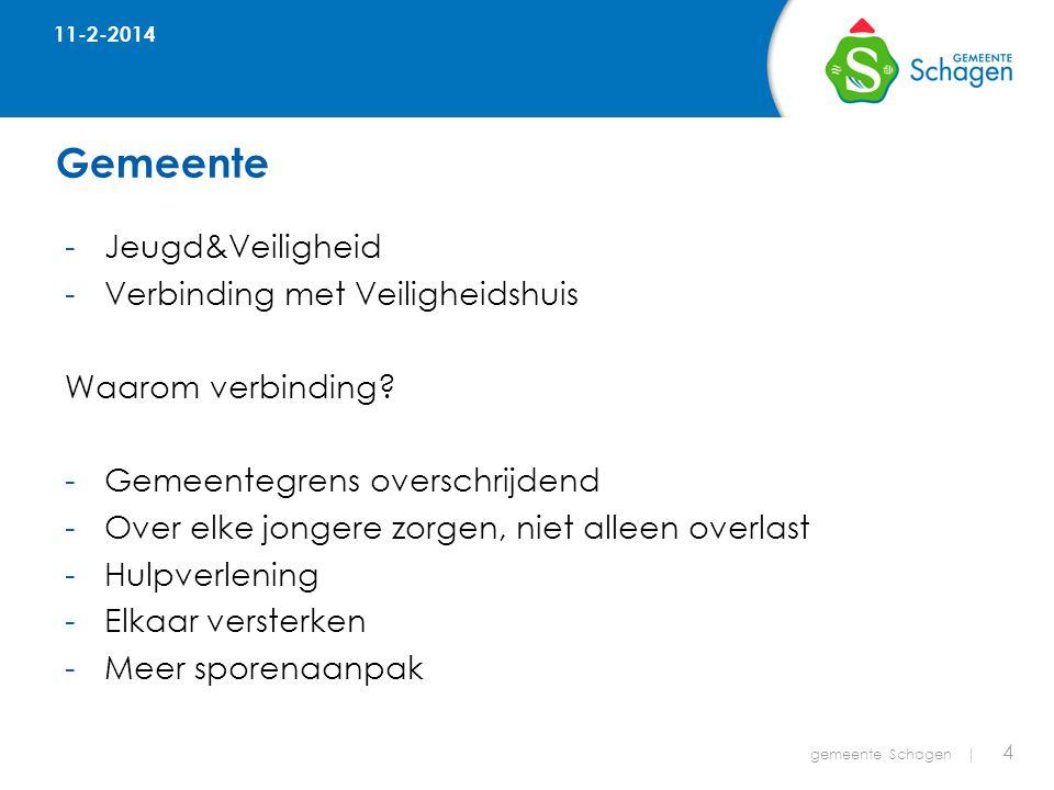 Gemeente 11-2-2014 gemeente Schagen | 4 -Jeugd&Veiligheid -Verbinding met Veiligheidshuis Waarom verbinding.