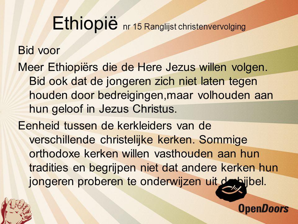 Bid voor Meer Ethiopiërs die de Here Jezus willen volgen. Bid ook dat de jongeren zich niet laten tegen houden door bedreigingen,maar volhouden aan hu