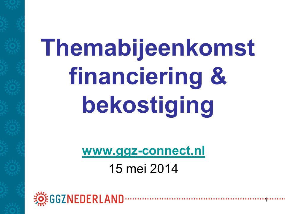 Themabijeenkomst financiering & bekostiging www.ggz-connect.nl 15 mei 2014 1