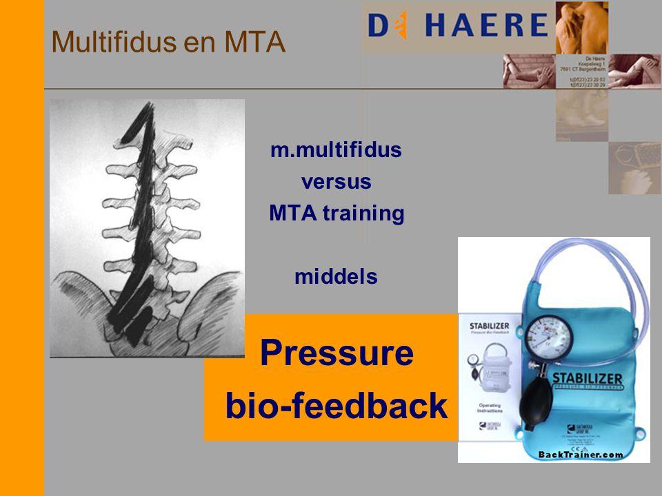Multifidus en MTA m.multifidus versus MTA training middels Pressure bio-feedback