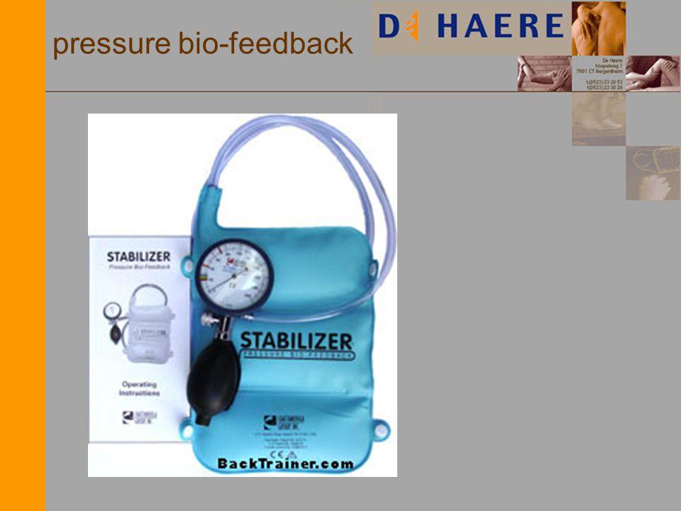 pressure bio-feedback