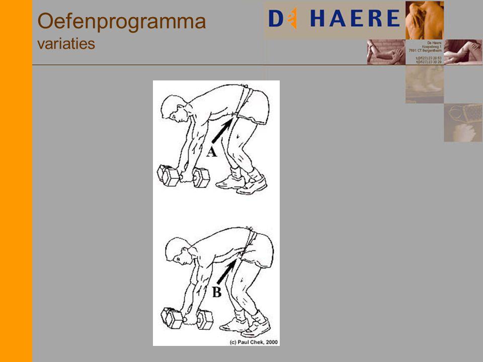 Oefenprogramma variaties