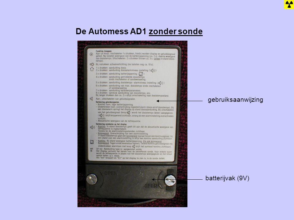 De Automess AD1 zonder sonde gebruiksaanwijzing batterijvak (9V)