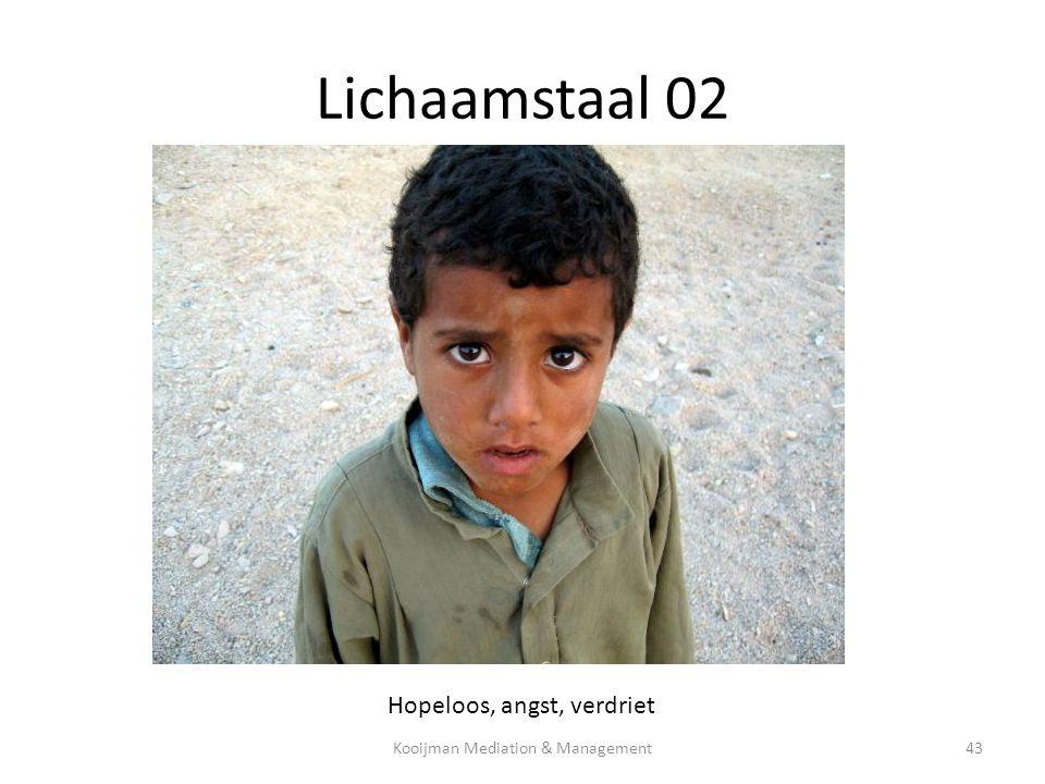 Lichaamstaal 02 Hopeloos, angst, verdriet Kooijman Mediation & Management43
