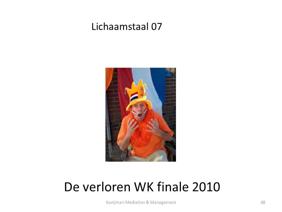 Lichaamstaal 07 De verloren WK finale 2010 Kooijman Mediation & Management48