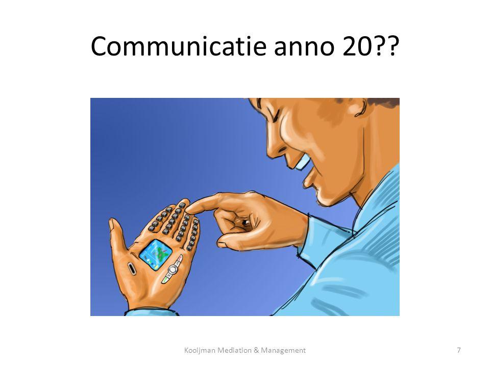 Elke boodschap heeft 2 niveau's inhoudsniveau relatieniveau Kooijman Mediation & Management18