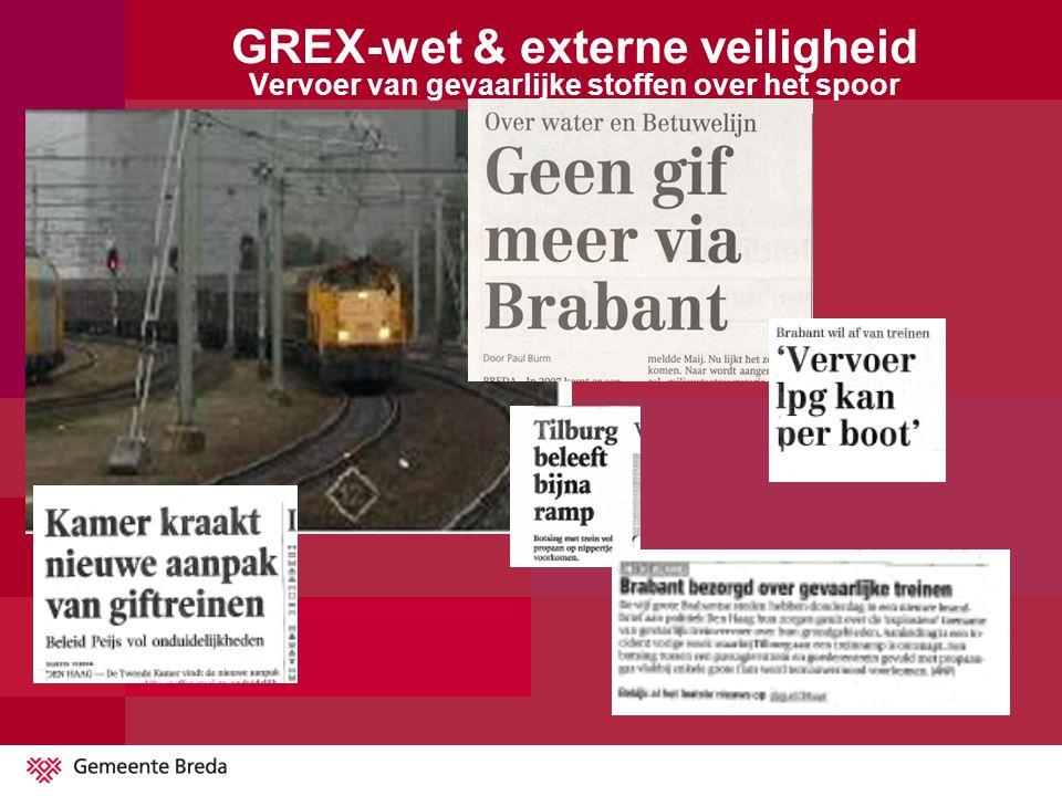 GREX-wet & externe veiligheid Vervoer van gevaarlijke stoffen over het spoor