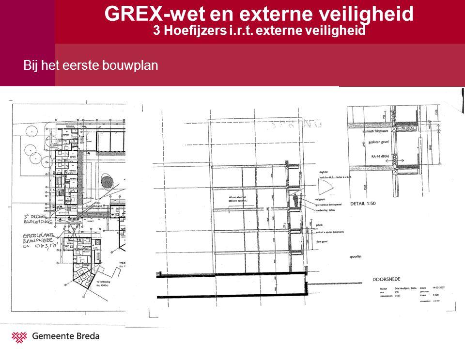Bij het eerste bouwplan GREX-wet en externe veiligheid 3 Hoefijzers i.r.t. externe veiligheid