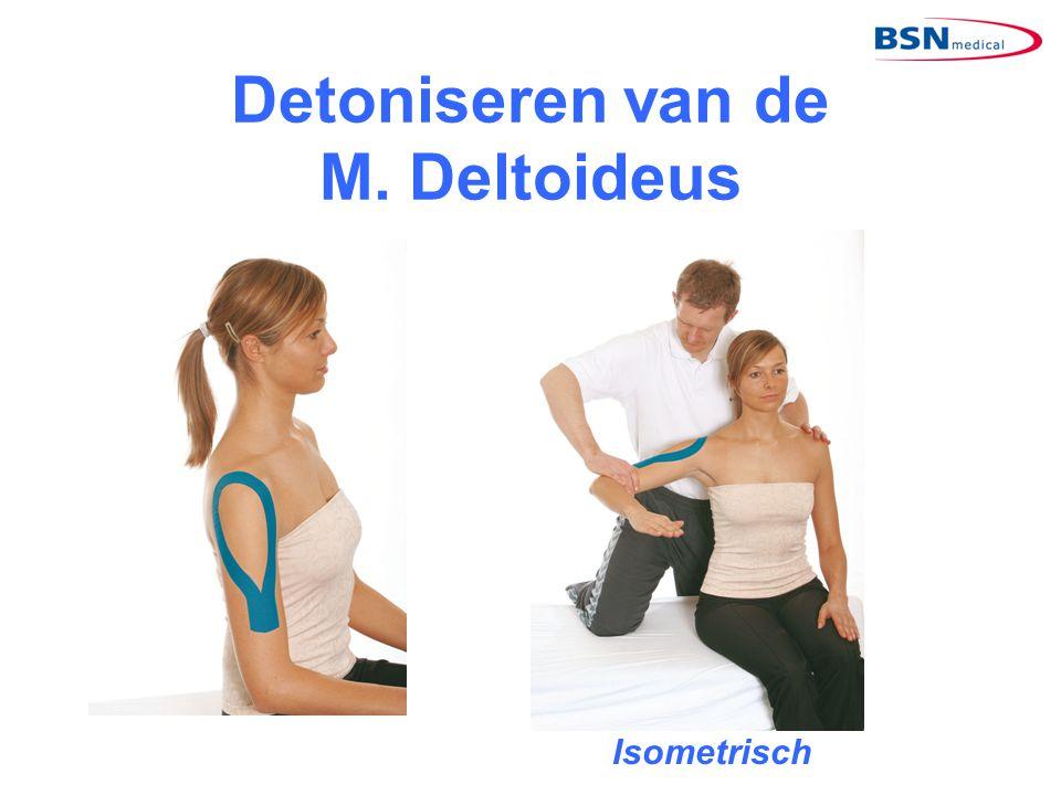 Detoniseren van de M. Deltoideus Isometrisch