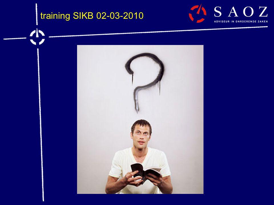 training SIKB 02-03-2010