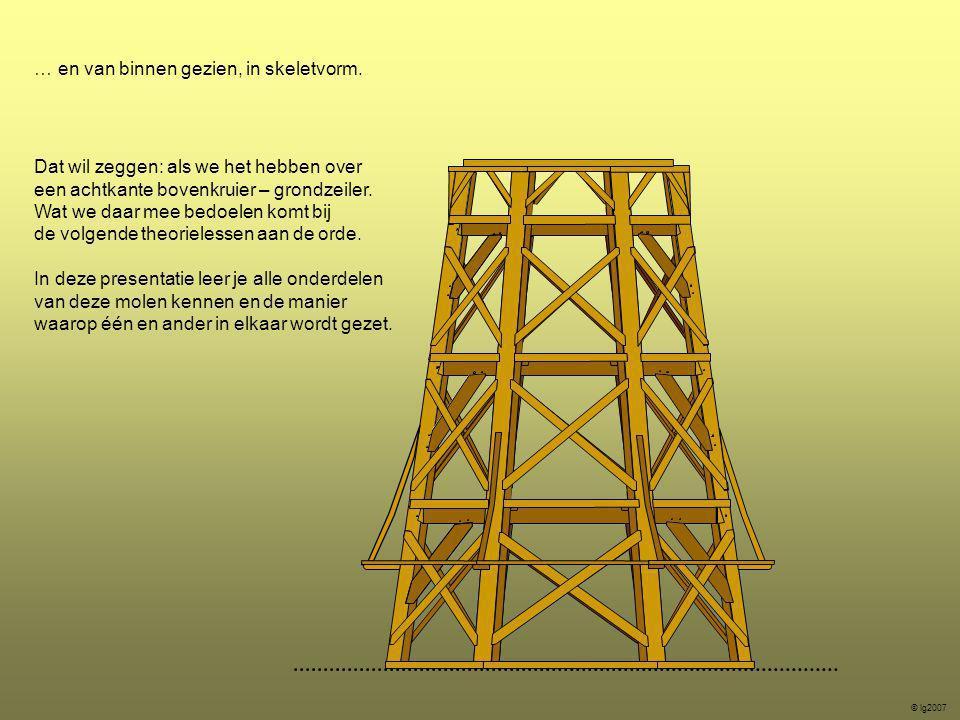 Het ondertafelement: Dit onderdeel vormt de basis waar de molen op wordt gebouwd.