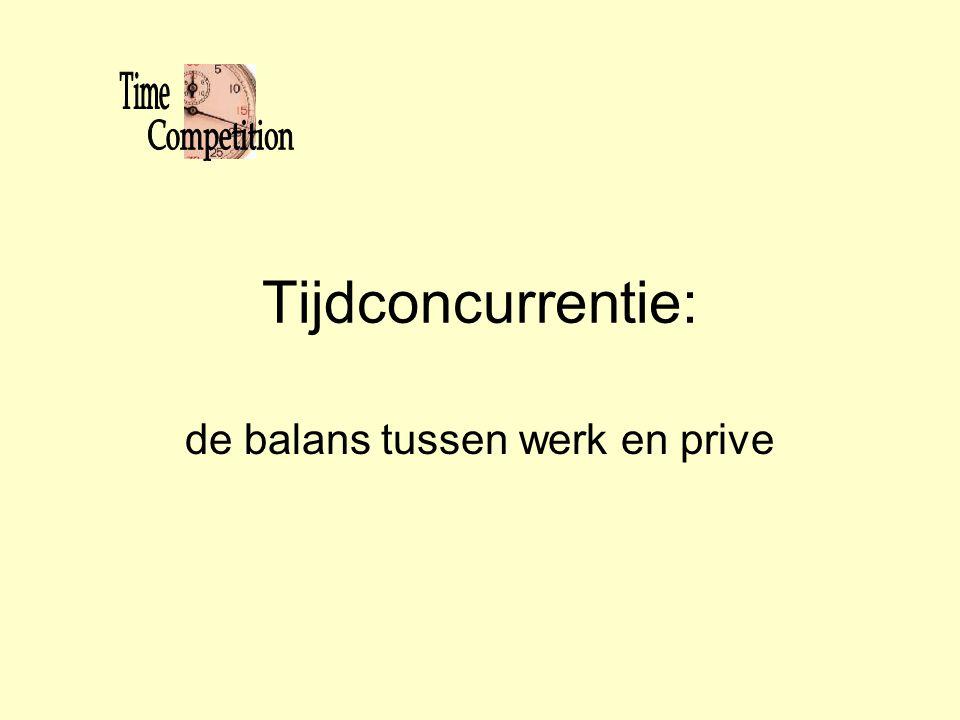 Tijdconcurrentie: de balans tussen werk en prive