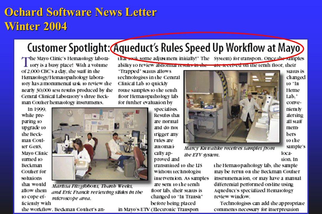 Ochard Software News Letter Winter 2004