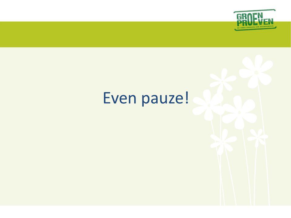 Even pauze!