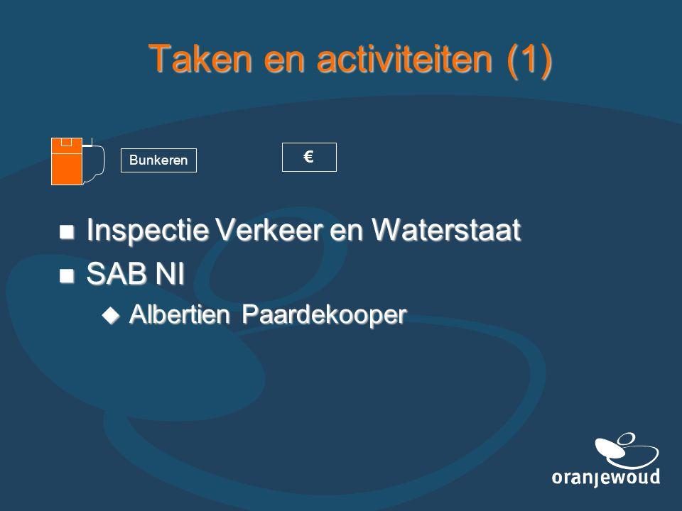 Taken en activiteiten (1)  Inspectie Verkeer en Waterstaat  SAB NI  Albertien Paardekooper Bunkeren €