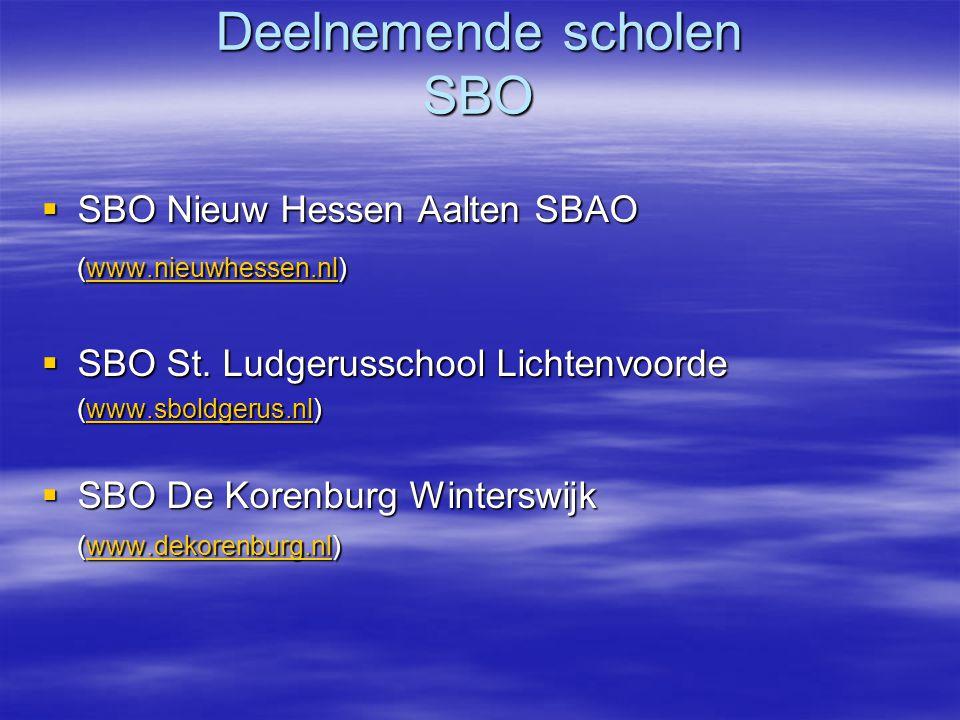 SBO de Korenburg Vervolg  Kenmerken voor deze sbao school: –Alle leerkrachten hebben so-akte en masteropleiding –Kind- en oudervriendelijk –Hoge mate van open, collegiale werksfeer –Combinatie oude LOM / MLK