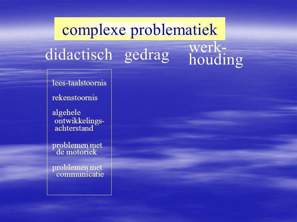 didactisch complexe problematiek gedrag werk- houding t.o.v.