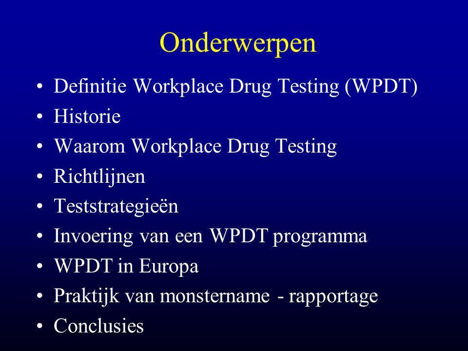 Ziekteverzuim •Werknemers met druggebruik verzuimen 16x meer dan werknemers die niet gebruiken ($ 30 miljard/jaar) (J.D.