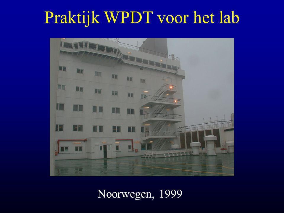Praktijk WPDT voor het lab Noorwegen, 1999