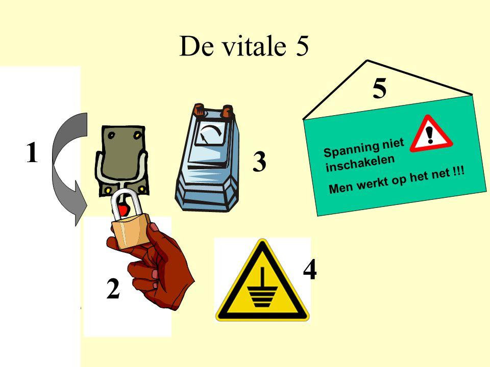 1 De vitale 5 2 3 4 Spanning niet inschakelen Men werkt op het net !!! 5