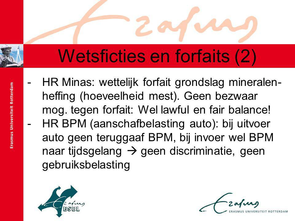 Wetsficties en forfaits (2) -HR Minas: wettelijk forfait grondslag mineralen- heffing (hoeveelheid mest).