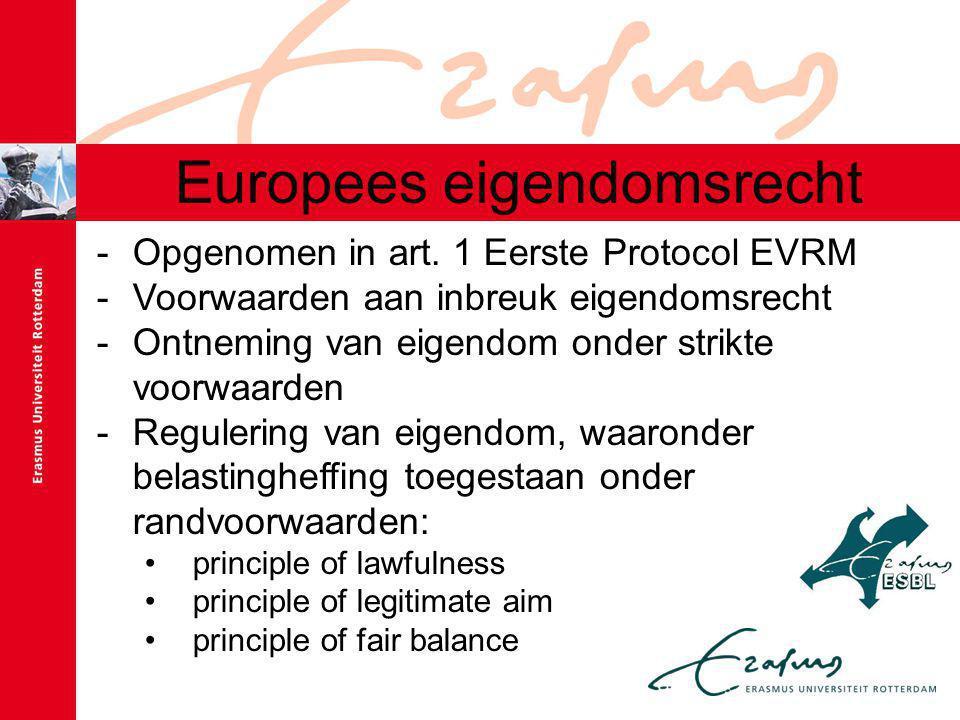 Europees eigendomsrecht -Opgenomen in art.
