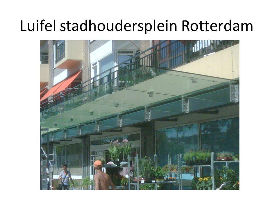 Luifel stadhoudersplein Rotterdam