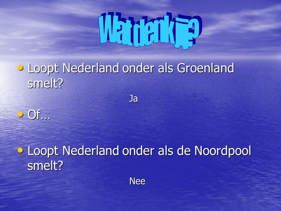 • Loopt Nederland onder als Groenland smelt.