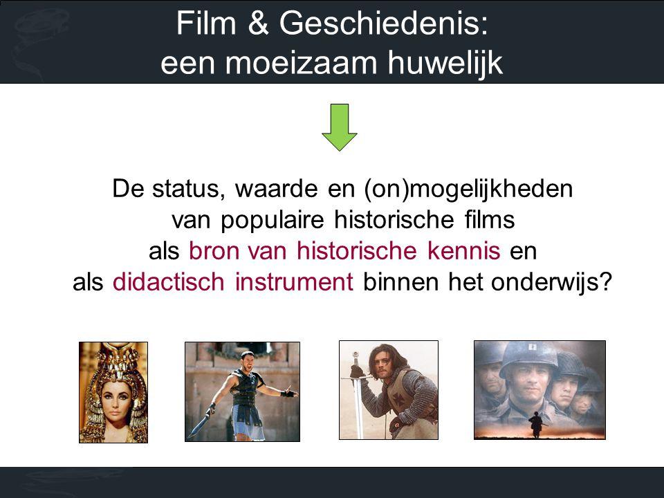 De status, waarde en (on)mogelijkheden van populaire historische films als bron van historische kennis en als didactisch instrument binnen het onderwijs.