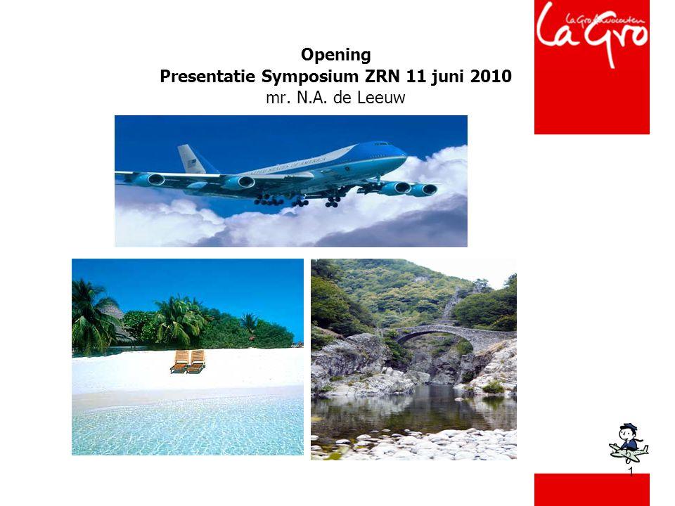 1 Opening Presentatie Symposium ZRN 11 juni 2010 mr. N.A. de Leeuw
