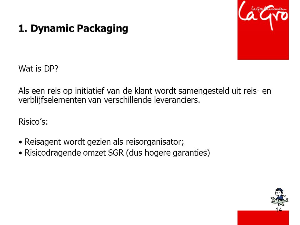 14 1. Dynamic Packaging Wat is DP.