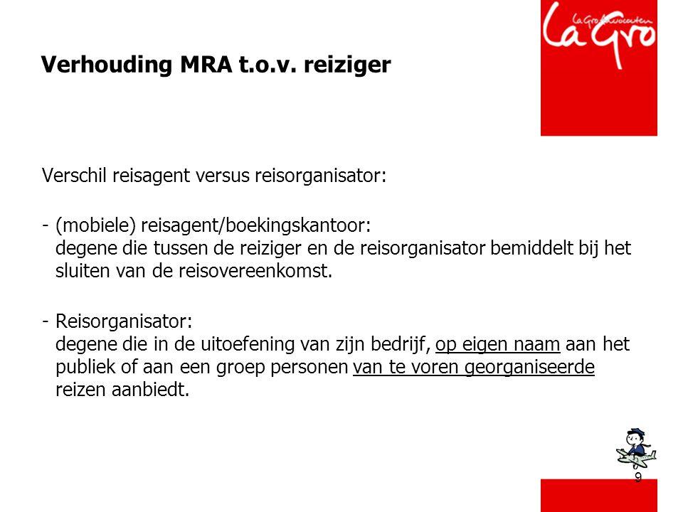 9 Verhouding MRA t.o.v.