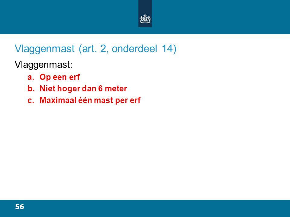 56 Vlaggenmast (art.